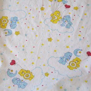 Vintage Care Bears Fitted Crib Playpen Bed Sheet